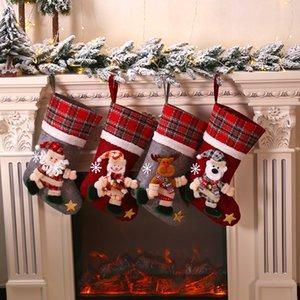 Снеговик медведь лось отца рождественский подарок большие кукольные носки куклы