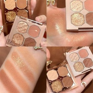 Eye Shadow Makeup Long Lasting Highlighter Pigment 4 Colors Eyeshadow Palette Glitter Matte Pearlescent Shimmer