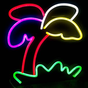 Segno di albero colorato Home Ristorante Hotel decorazione della parete colorato LED neon Light 12 V super luminoso