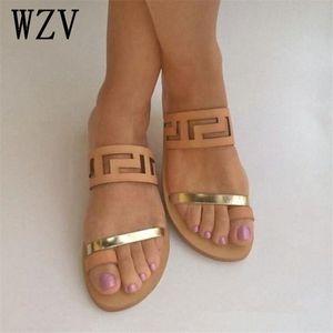 New Summer Arrival Quality Flat Sandals Women 2019 Hot Fashion Open Toe Flip Flops Slides Slip On Beach Shoes W682 B2FI#