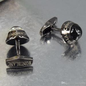 Monili del gemello dell'uomo di lusso Gioielli Golden-Silver-Rose Grigio Grigio Grigio che stampa il bottone del polsino come il matrimonio Gentlemen di indossare i gemelli regalo # 1212