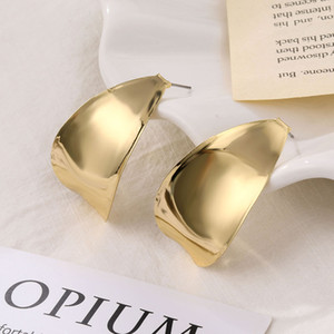 Vintage Geometric Alloy Drop Earrings Fashion Statement Womens Gold Metal Exaggerated Earrings 2020 Trendy Earings Jewelry Gift