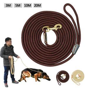 Durable Dog Tracking Leine Nylon Lange Leads Seil Pet Training Medium Große Hunde Leinen Gehe rutschfeste 20m 10m 5m 3m