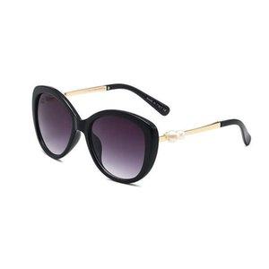 Güneş gözlüğü aile bulur 2021 kadın polarize kedi göz boy gözlükler UV400 moda inci c ve harfler