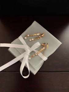 Дизайнерская буква Серьги 2021 Новый Золотой Алмаз Серьги с подарочной коробкой Высокое Качество Мода Роскошь Бесплатная Доставка BD022303