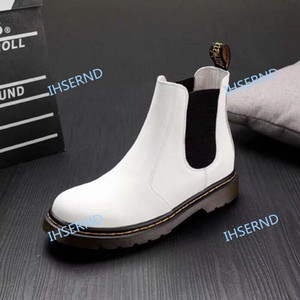 High quality men's boots ladies black white red 1460 SMOOTH WOMENS leather platform EU 35-45