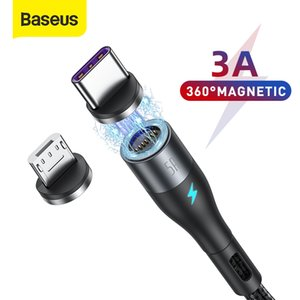 Baseus Magnetic Cable 3A 5A Magnet USB C Cable Phone Charger Type C Micro USB Cable