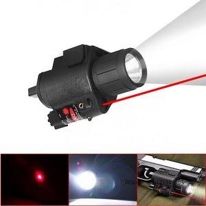كري led التكتيكية مضيا ضوء الليزر ضوء الليزر ستروب ضوء ل بندقية مسدس glo ck g17 g19 20mm السكك الحديدية جبل shotgun 200 lumens مجانا