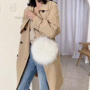 Chain Bag Soft Handbag Faux Fur Autumn Hot And Comfortable Suede Bag Fashion White Round And Pearl Mini Shoulder Winter Handbag Hnusp Vismg