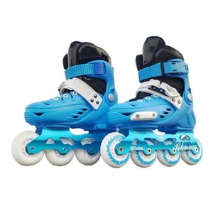 Children's Ice Skates Adjustable Removable and Washable Training Roller Inline Skating Full Flashing Suit Skate