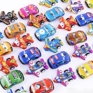 Kunststofffarbe Feedback Mini Roller Ziehen Sie Rückenautos und Flugzeugspielzeug Autos für Kinderräder Mini-Automodell lustige Kinderspielzeug Weihnachtsgeschenke
