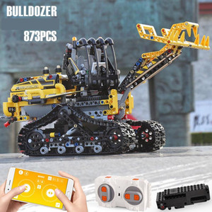YX Crawler Forklift RC Building Block, DIY APP Control, Programmable, Gravity Induction, Developmental Toy, for Birthday Kid Christmas Gift