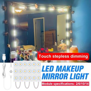 Wall Lamps LED Makeup Mirror Light Dimming Lamp Hollywood Vanity Bathroom Cosmetic Bulb Dressing Table USB 5V