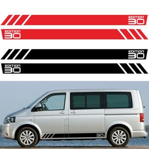 2PCS BUS California T6 30 Edition Car Door Side Skirt Stripe Sticker per Volkswagen VW Multivan Transporter T4 T5 T6 accessori
