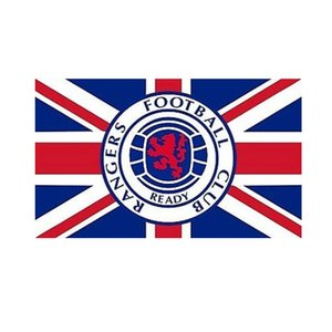 Scotland Rangers Football Club Flag 3x5Ft Double Stitched Decoration Banner 90x150cm Sports Festival Polyester Digital Printed Wholesale