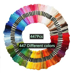 Yarn 8m 50 100 150 200 447pcs Multicolor Embroidery Thread Cross Stitch Knitting Floss Sewing Skeins Craft DIY Bracelet Braided