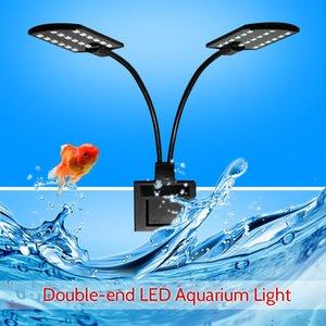 2021 New Ac220v 10w 32 Led Double-end Aquarium Light Jug Flexible Lamp Angle of Portable White Folding Lighting for Fish Tanks Wefb