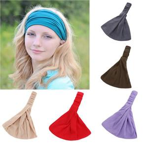 Fashion Women Wide Headband Cotton Turban Headwrap wash face makeup headband Knot Hearwear free shipping