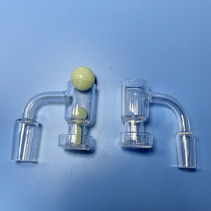 Terp Slurper Quartz Banger With 28mm Long Barrel - Come W  Terp-Slurper Pill and Marble Beads Glass Bubbler or Dab Rig Smoking Accessory