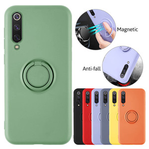 Brand new Shockproof Soft Silicone Case with ring holder For iPhone 12 11 Pro Max7 8 6 6S Plus SE 2020 phone back Cover case with stand