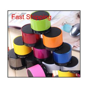 Wholesale - S10 Bluetooth Speakers S11 Mini Wireless Portable Speakers Hi-Fi Music Player Home Audio For Iphone 5 Iphone 4 Mp3 Player 61Yql