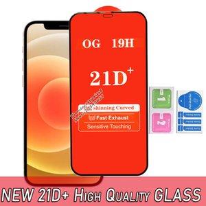 جودة عالية 21d بلس غطاء كامل الزجاج المقسى شاشة الهاتف واقي شاشة الوفيات 12 11 برو ماكس XR XS 6 7 8 سامسونج A22 A32 A42 A52 A72 A12 A01 A02 A02 A02S