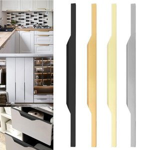 Handles & Pulls Home Hardware Door Knob Wardrobe Aluminum Alloy Cabinet Drawer Cupboard Hidden Handle
