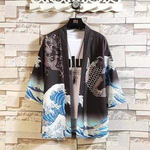 2021 New China Style Shirt Men Japanese Harajuku Tops Streetwear Casual Half Sleeve Summer Cool Japan Tshirts Males Funny Zjrh