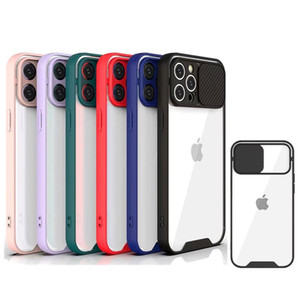 New Design Lens Slide Camera Cover Transparent Clear Shockproof Phone Case For Iphone 12 pro max 12 pro mini 11 XR XS MAX 6 7 8 Plus