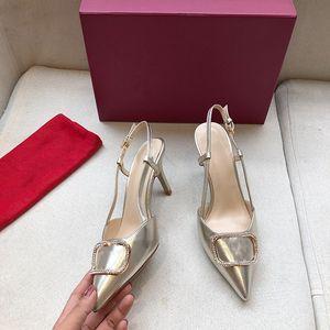 Nuevo diseñador de marca Genuine Real Afilo Mujer Sandalias Zapatos de boda Talón de tacón alto Zapatos Puntas puntiagudas Toe Stiletto Sandalias Sandalias Blanco Bowknot