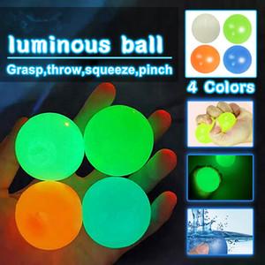Fidget jouets fluorescent balle collant balle collant cible boule de décompression jouet cadeau cadeau enfants jouets squishy