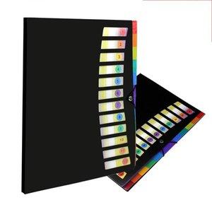 12 Pockets A4 File Folder Students Test paper folder Plastic Portable Document folder Classification folders (4 colors) MY-inf0624 25 V2