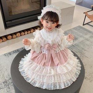 Miayii Baby Kleidung Spanische Lolita Bogen Spitze Nähen Süße Niedliche Prinzessin Ballkleid Geburtstagsfeier Ostern Kleid Für Mädchen Y3824