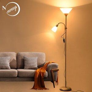 Night floor Lamp Stand Soggiorno regolabile illuminazione hotel moderno per camera da letto casa Nordic Design 2 luci E27 LED AC 110V 220V