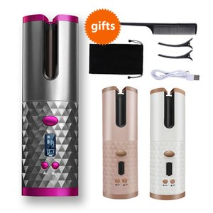 Automatic Hair Iron Wireless Usb Air Curler Chargeable for Waves CD Screen Ceramic Curling