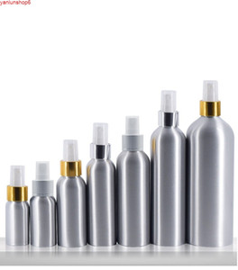 30ml Aluminium bottle metal with aluminum collar mist press pump for water facial toner perfume flower toilet packinghigh qualtity
