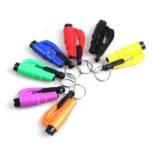 Outil de sauvetage d'urgence de sauvetage de la vie Accessoires de voiture Belt-Break Break Tool Safety Breaker Mini Keychain Marteau
