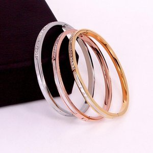 Stainless Steel Square Crystal Shell Bracelet Rose Gold Color Female Woman Party Wedding Gift1