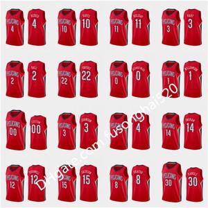 2021 رخيصة مطبوعة مخصص الرجال النساء الاطفال الأحمر صهيون 1 ويليامسون براندون إنغرام لونزو الكرة J.J. Redick Jrue Holiday Custom كرة السلة جيرسي