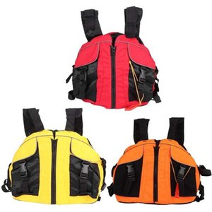 Life Jacket Swimming Boating Ski Drifting Life Vest with Whistle Water Sports Adult Jacket Polyester Adult Vest