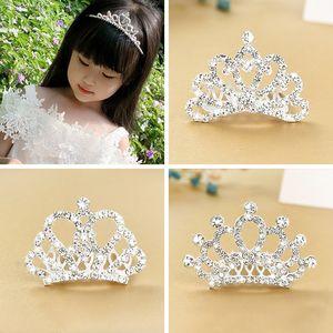 Kinderschmuck Prinzessin Band kleine Haarnadel Mädchen Wasserbohrer Stirnband Kamm Crown Haar Ornament