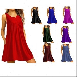 Womens Summer O Neck Short Sleeve Casual Solid T Shirt Dress Vestidos Large Size Simple Women Clothing 5XL Fasion NEW