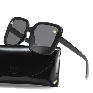 2021 Brand Oversized sunglass Women Luxury Gradient sunglass Big Frame Vintage sunglass UV400 Glass Little Bee