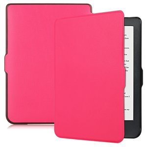 Ultra Thin PU Leather Filp Book Cover Case for Kobo Clara HD 2018 6 inch with Hand Strap with Auto Wake Sleep
