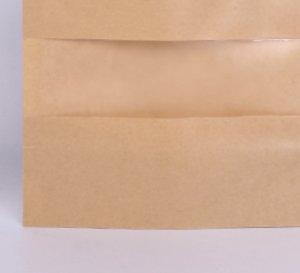 Kraft Paper Sac 12 Tailles Stand up Food Séché Fruit Tea Emballage Pochettes Papiers Kraft Fenêtre Sac de vitre Détail Zipper Sans scellage Sacs1v2