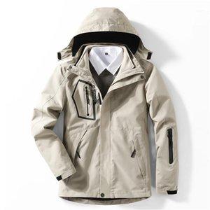 Winter 3in1 Flece Deatach Куртка Мужчины Женщины Кемпинг Рыбалка Пешие прогулки Восхождение лыжные Куртки Водонепроницаемые Дышащие негабаритные 5XL Coats1