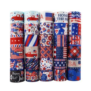 American Independence Day Ribbon 4th July Gift Package Ribbon USA Patriotic DIY Hair Accessory 22mm 10 Yards a roll GWA4317