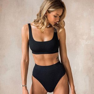 Maillot De Bain Waisted Bikini Kadınlar Için İki Adet Mayo Yaz Kızlar Mayo Biquini Kadınların Mayo Yüksek
