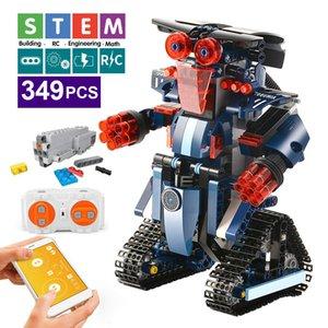 Best 392PCS Creative Electric Remote Control Machinery Building Blocks Technic RC Robot Bricks Toys For Children