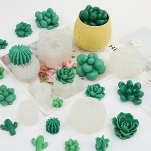 Craft Tools DIY Baking Mousse Green Plant Cake Mold Creative Candle Succulent Silicone In Stock Resin Making Supplies